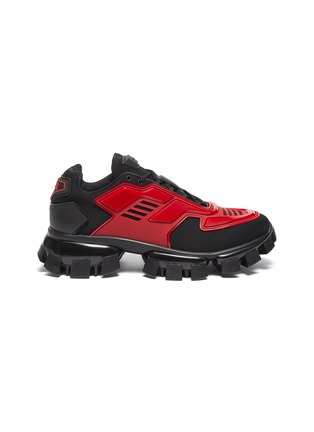 Main View - Click To Enlarge - PRADA - 'Cloudburst Thunder' colourblock panelled chunky sneakers
