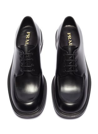 Detail View - Click To Enlarge - PRADA - Leather Derbies