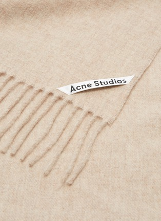 Detail View - Click To Enlarge - ACNE STUDIOS - 'Canada New' oversized wool scarf