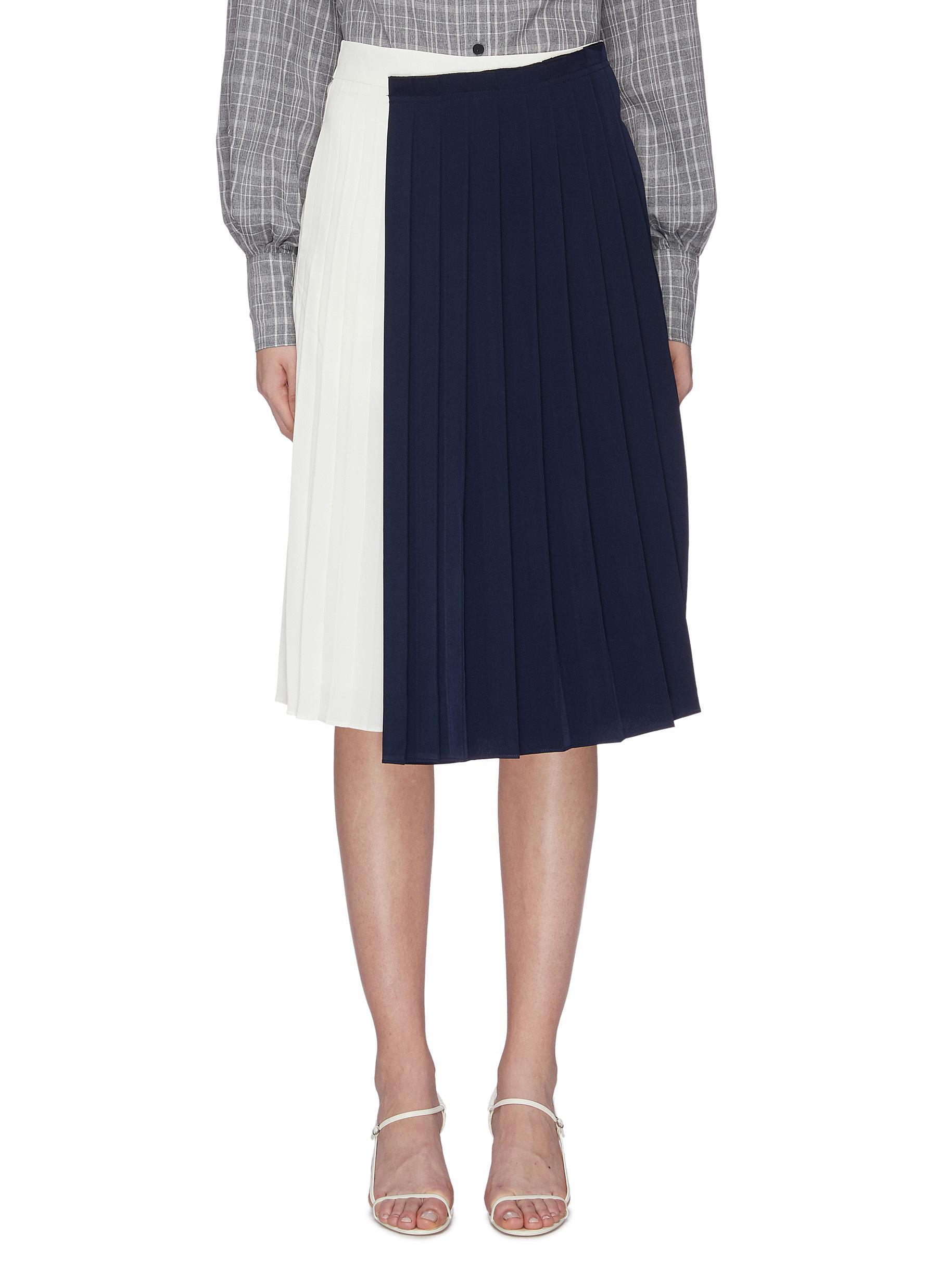 Colourblock pleated skirt by Mijeong Park