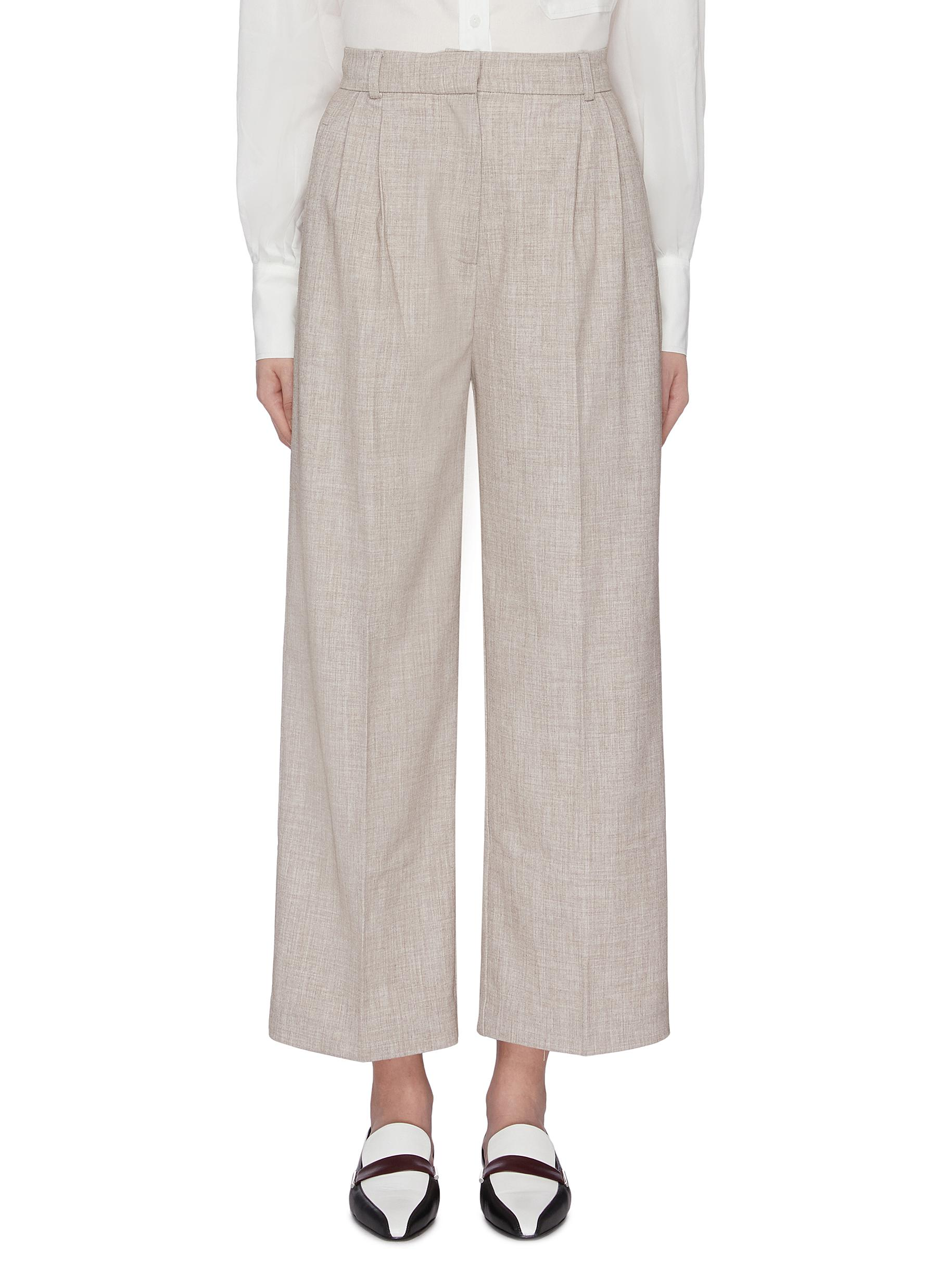 Wide leg suiting pants by Mijeong Park