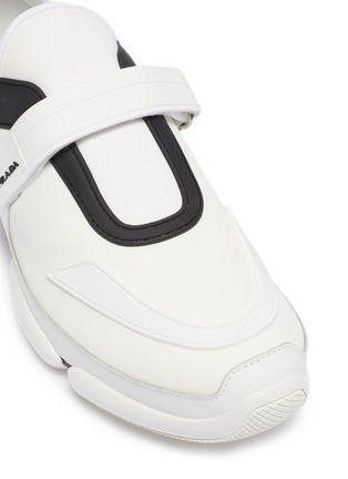 Detail View - Click To Enlarge - PRADA - 'Cloudbust' textile hook-and-loop strap panelled neoprene sneakers