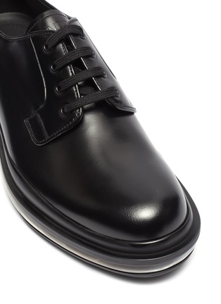 Detail View - Click To Enlarge - PRADA - 'Bounce' air midsole leather Derbies