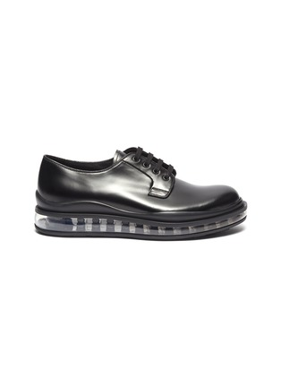 Main View - Click To Enlarge - PRADA - 'Bounce' air midsole leather Derbies