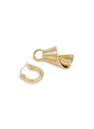 Detail View - Click To Enlarge - ELLERY - 'Babel Tower Spiral Cone' detachable drop hoop earrings