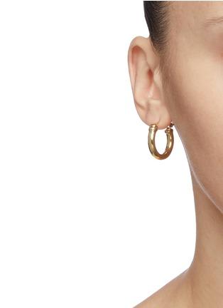Front View - Click To Enlarge - ELLERY - 'Babel Tower Spiral Cone' detachable drop hoop earrings