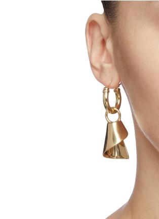 Figure View - Click To Enlarge - ELLERY - 'Babel Tower Spiral Cone' detachable drop hoop earrings