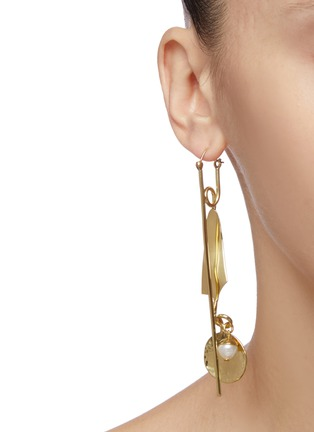 Figure View - Click To Enlarge - ELLERY - 'Thrillest Commercial Ornamental Pin' mixed drop earrings