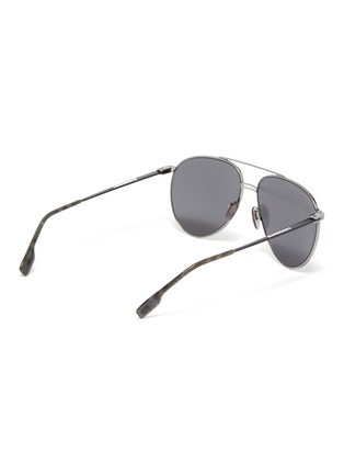 048853acabdc Figure View - Click To Enlarge - BURBERRY - Mirror metal aviator sunglasses