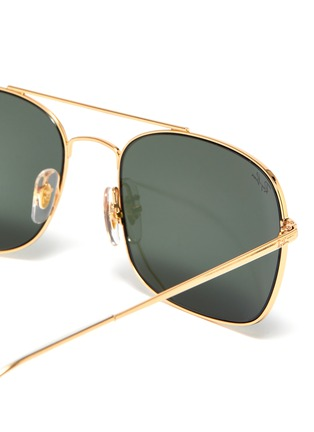 Detail View - Click To Enlarge - RAY-BAN - 'RB3611' double bridge metal square sunglasses