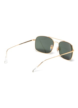 Figure View - Click To Enlarge - RAY-BAN - 'RB3611' double bridge metal square sunglasses