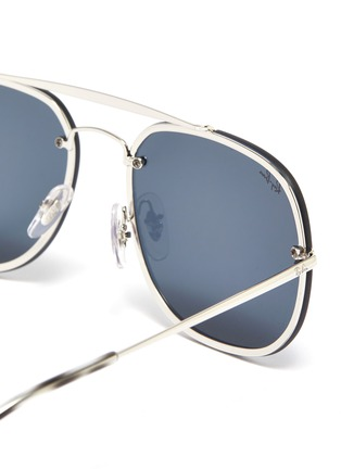 Detail View - Click To Enlarge - RAY-BAN - 'Blaze General' metal square sunglasses