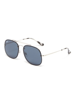 Main View - Click To Enlarge - RAY-BAN - 'Blaze General' metal square sunglasses
