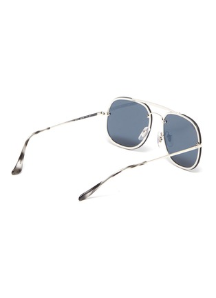 Figure View - Click To Enlarge - RAY-BAN - 'Blaze General' metal square sunglasses