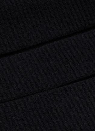 - BOTTEGA VENETA - Cutout off shoulder rib knit top