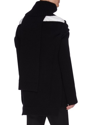 Back View - Click To Enlarge - BOTTEGA VENETA - Cutout off shoulder rib knit top