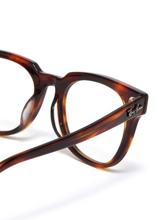Detail View - Click To Enlarge - RAY-BAN - 'Meteor' tortoiseshell acetate square optical glasses