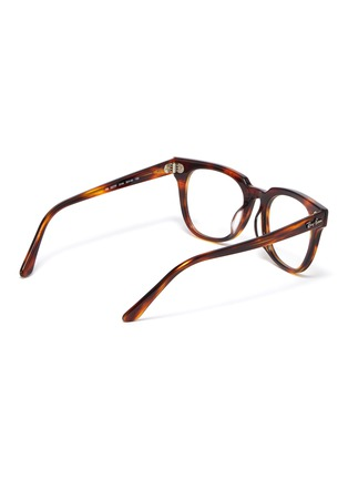 Figure View - Click To Enlarge - RAY-BAN - 'Meteor' tortoiseshell acetate square optical glasses