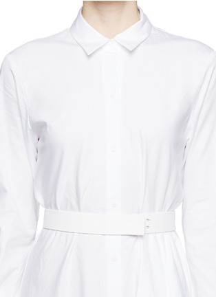 Detail View - Click To Enlarge - THEORY - 'Diaz' cotton poplin asymmetric shirt dress