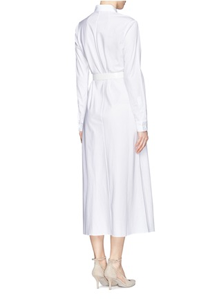 Back View - Click To Enlarge - THEORY - 'Diaz' cotton poplin asymmetric shirt dress