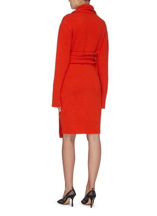 Back View - Click To Enlarge - BOTTEGA VENETA - 'Intercciato' interlock sash knit dress