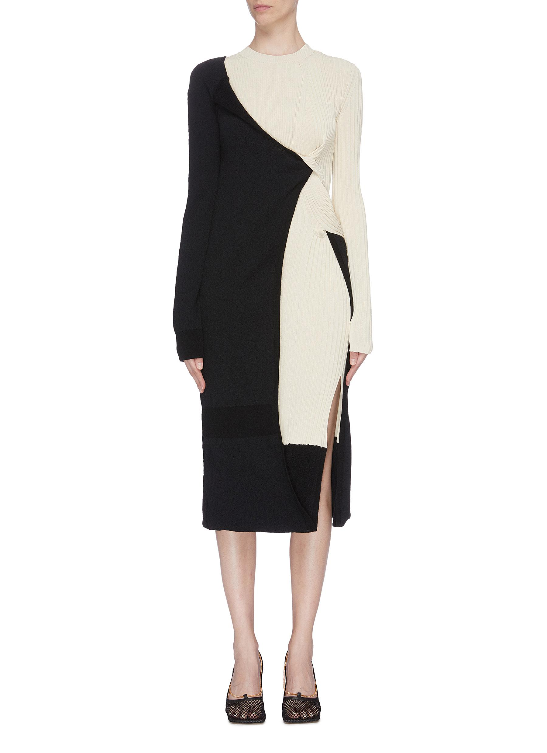 shop Bottega Veneta Wrap knit dress online