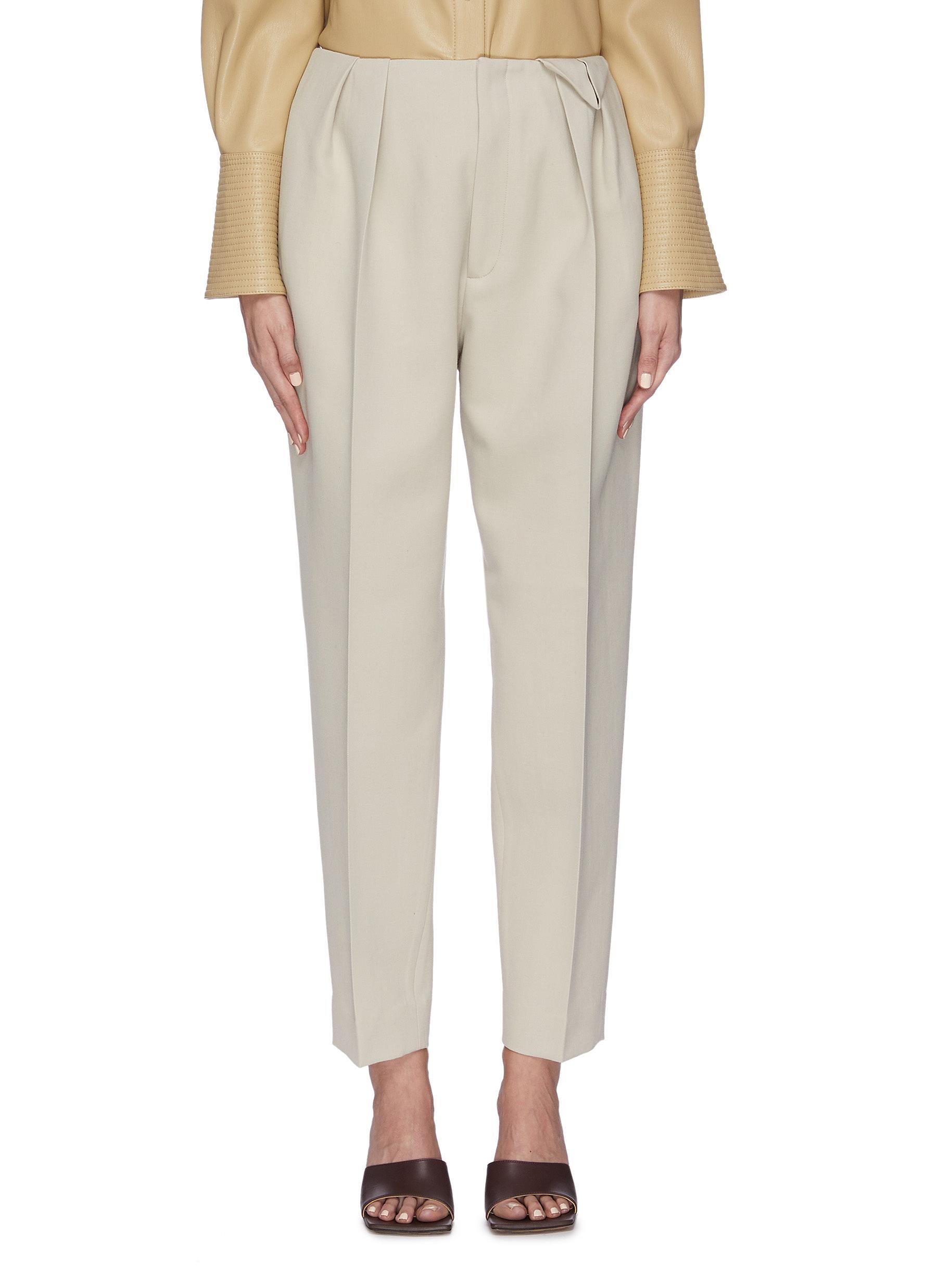 shop Bottega Veneta Pleated carrot suiting pants online