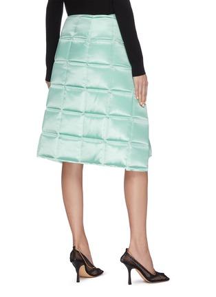 Back View - Click To Enlarge - BOTTEGA VENETA - 'Intercciato' puffed chain detail skirt