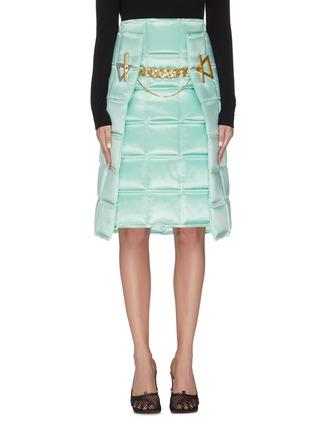Main View - Click To Enlarge - BOTTEGA VENETA - 'Intercciato' puffed chain detail skirt