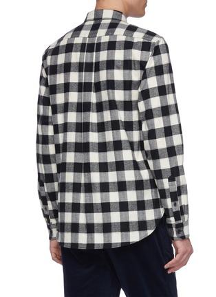 Back View - Click To Enlarge - VINCE - Buffalo check plaid shirt