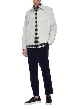 Figure View - Click To Enlarge - VINCE - Buffalo check plaid shirt