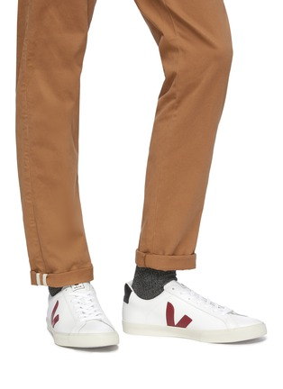 Figure View - Click To Enlarge - VEJA - 'Esplar' leather sneakers