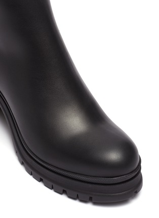 Detail View - Click To Enlarge - PRADA - Leather platform ankle boots