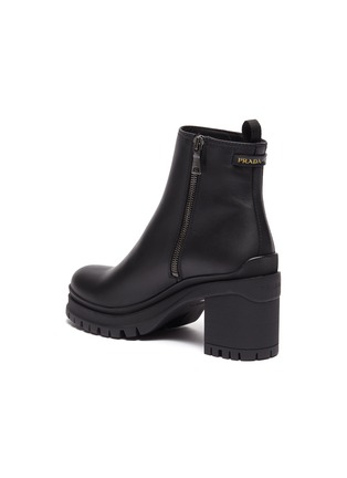 - PRADA - Leather platform ankle boots