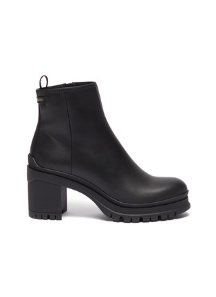 Main View - Click To Enlarge - PRADA - Leather platform ankle boots