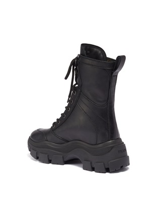 - PRADA - Chunky outsole leather combat boots