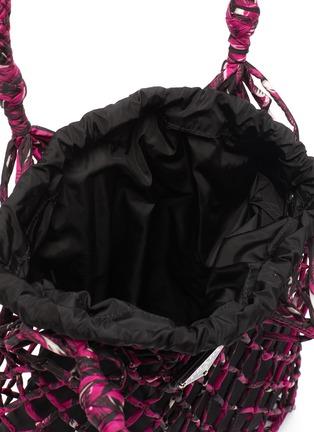 Detail View - Click To Enlarge - PRADA - Mesh net satin bucket bag