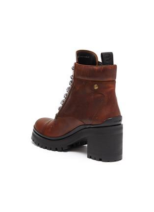 - MIU MIU - Chunky outsole leather ankle boots