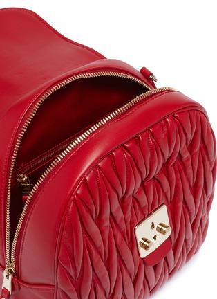 Detail View - Click To Enlarge - MIU MIU - Matelassé leather backpack