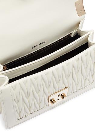 Detail View - Click To Enlarge - MIU MIU - Matelassé leather crossbody bag