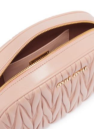 Detail View - Click To Enlarge - MIU MIU - Mini matelassé leather oval crossbody bag