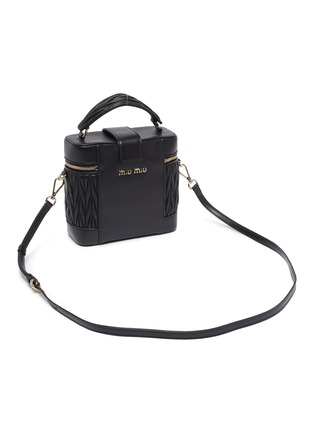 Detail View - Click To Enlarge - MIU MIU - Matelassé leather panel top handle camera bag
