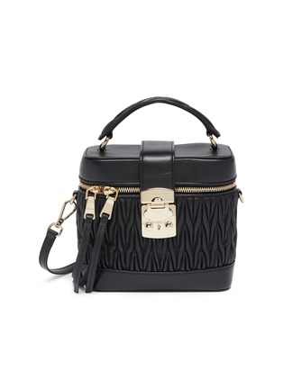 Main View - Click To Enlarge - MIU MIU - Matelassé leather panel top handle camera bag
