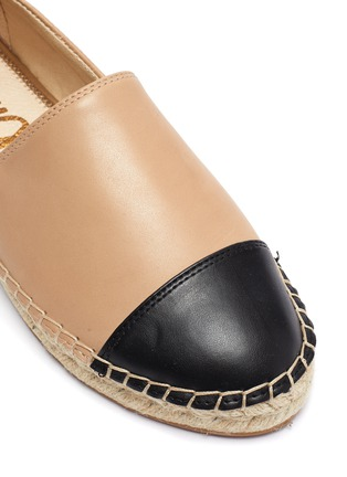 Detail View - Click To Enlarge - SAM EDELMAN - 'Krissy' contrast toe leather espadrilles