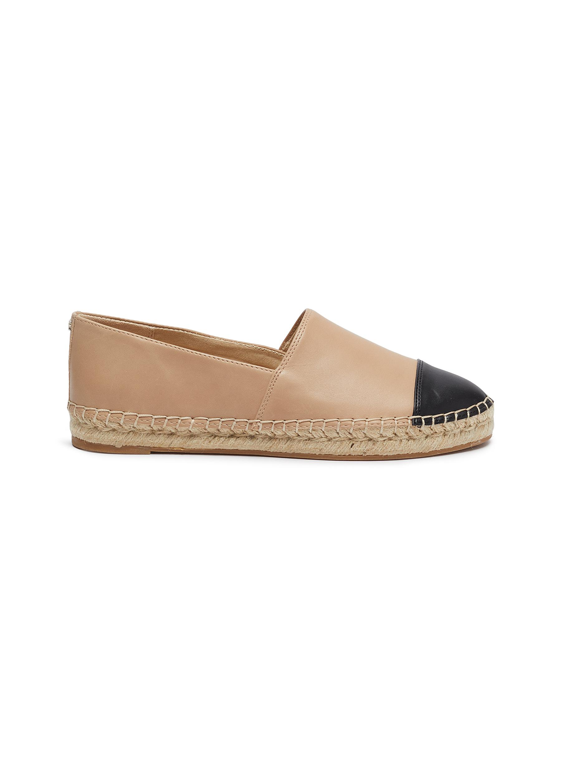 Krissy contrast toe leather espadrilles by Sam Edelman