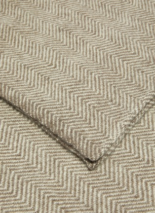 Detail View - Click To Enlarge - NORLHA - 'Nomad' herringbone blanket