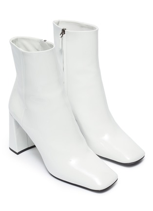 Detail View - Click To Enlarge - PRADA - Patent leather ankle boots