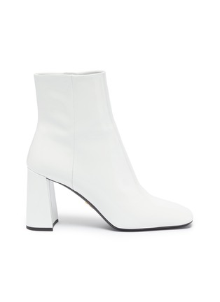 Main View - Click To Enlarge - PRADA - Patent leather ankle boots