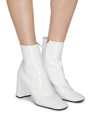 Figure View - Click To Enlarge - PRADA - Patent leather ankle boots