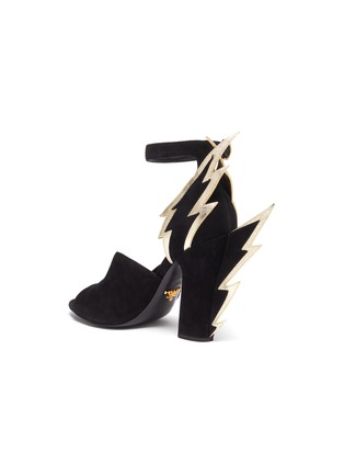 - PRADA - Lightning panel heel suede sandals
